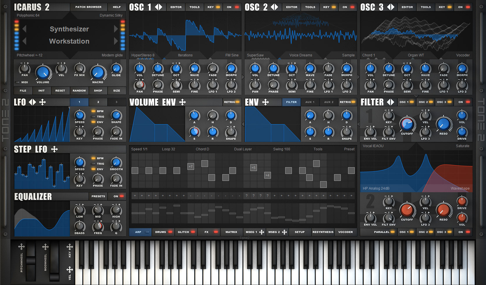 Exclusive Factory Presets for tone2´s Icarus 2