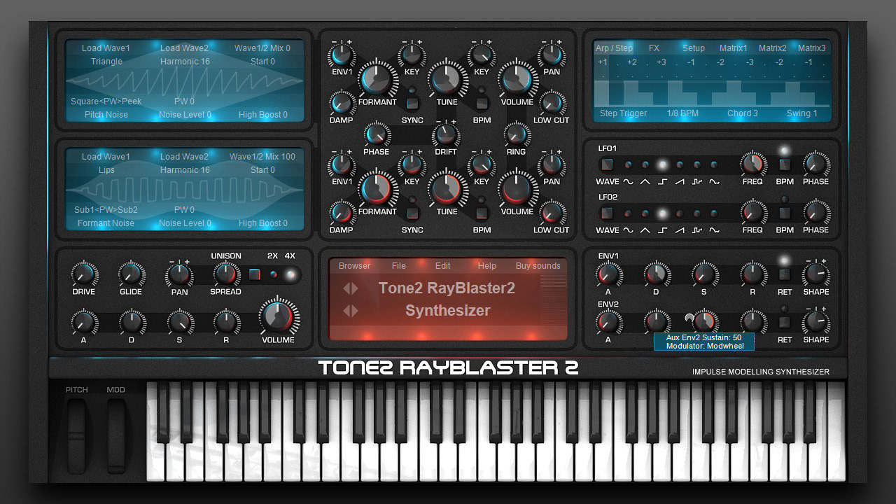 Exclusive Factory Presets for tone2´s Rayblaster 2